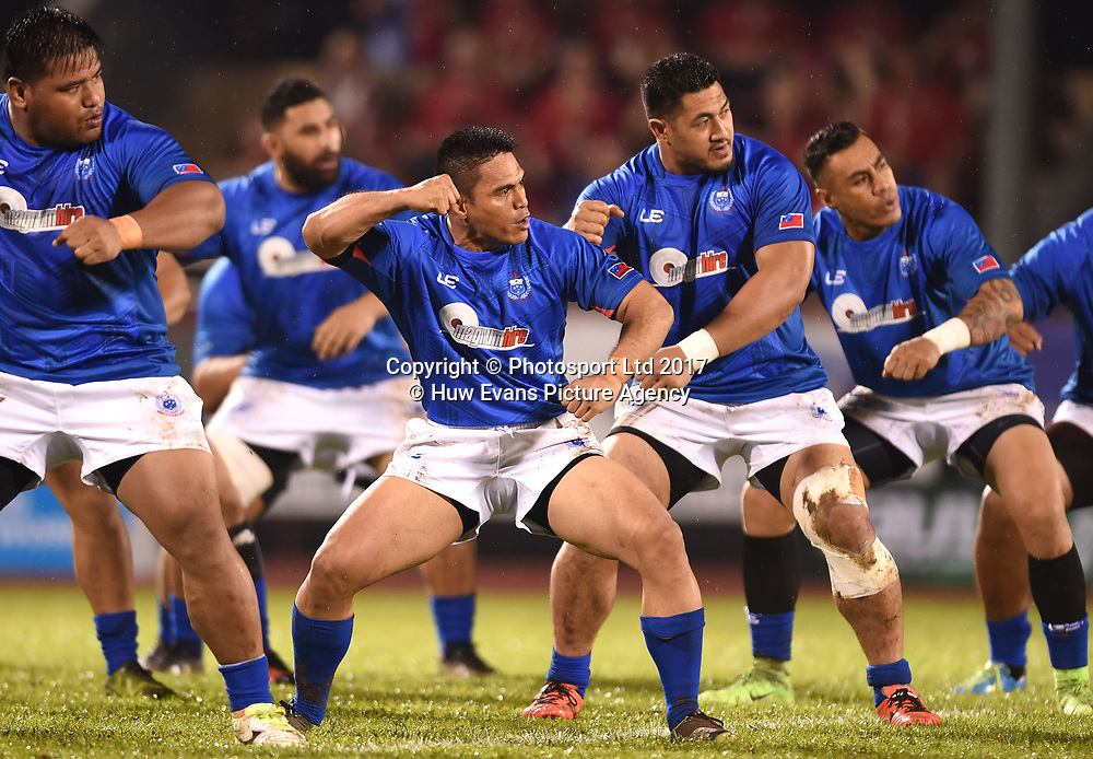 23.06.17 - Samoa v Wales -<br /> David Lemi of Samoa performs the Siva Tau.<br /> Copyright photo: Ben Evans / www.photosport.nz