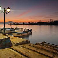Port of Sozopol at twilight