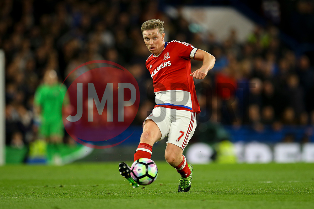 Grant Leadbitter of Middlesbrough in action - Mandatory by-line: Jason Brown/JMP - 08/05/17 - FOOTBALL - Stamford Bridge - London, England - Chelsea v Middlesbrough - Premier League