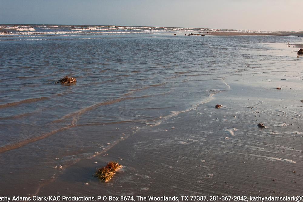 Beach along the Gulf Coast, near Quintana and Freeport, Texas.