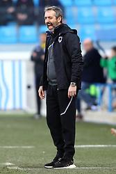 """Foto LaPresse/Filippo Rubin<br /> 03/03/2019 Ferrara (Italia)<br /> Sport Calcio<br /> Spal - Sampdoria - Campionato di calcio Serie A 2018/2019 - Stadio """"Paolo Mazza""""<br /> Nella foto: MARCO GIAMPAOLO (ALLENATORE SAMPDORIA)<br /> <br /> Photo LaPresse/Filippo Rubin<br /> March 03, 2019 Ferrara (Italy)<br /> Sport Soccer<br /> Spal vs Sampdoria - Italian Football Championship League A 2018/2019 - """"Paolo Mazza"""" Stadium <br /> In the pic: MARCO GIAMPAOLO (SAMPDORIA'S TRAINER)"""
