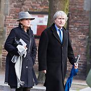 NLD/Utrecht/20140215 - Herdenkingsdienst Els Borst in de Domkerk, Pia Dijkstra en partner Gerlach Cerfontaine