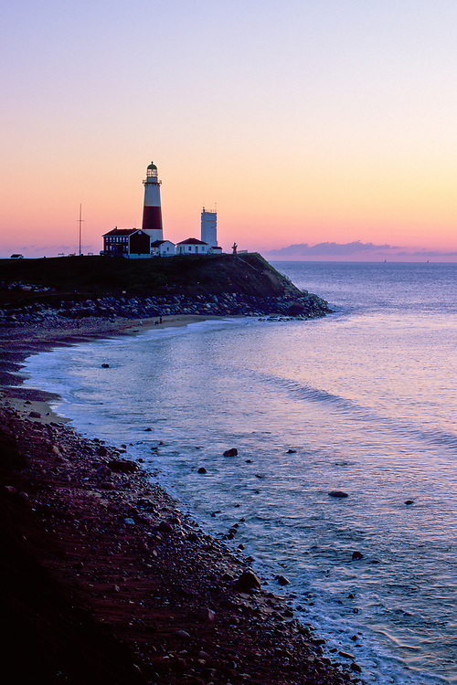 Montauk Point Light, Montauk Point State Park , Lighthouse located on easternmost point of Long Island,  Town of East Hampton, Suffolk County, New York, Atlantic Ocean