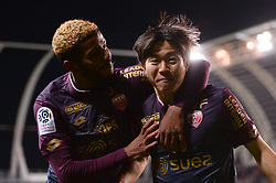 November 28, 2017 - Amiens, France - 22 Changhoon KWON (dij) - 19 Valentin ROSIER (dij) - JOIE (Credit Image: © Panoramic via ZUMA Press)