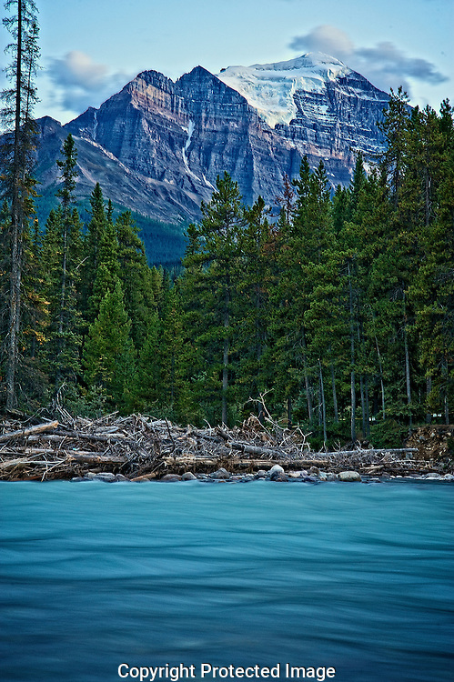 Bow river at dusk., Alberta, canada, Isobel Springett