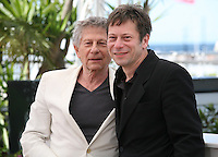 Director Roman Polanski and actor Mathieu Amalric at Venus in Fur - La Venus A La Fourrure Photocall Cannes Film Festival On Saturday 26th May May 2013