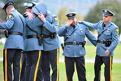 10/21/2011 Phillipsburg, NJ Hundreds of Police Officers, family members and friends gathered Friday to mourn the loss of Mount Arlington Police Officer Joseph Wargo who was killed in the line of duty on October 16th.  Express-Times Photo | CHRIS POST