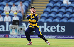 Aneurin Donald of Glamorgan takes the catch of Jayawardene. - Mandatory by-line: Alex Davidson/JMP - 22/07/2016 - CRICKET - Th SSE Swalec Stadium - Cardiff, United Kingdom - Glamorgan v Somerset - NatWest T20 Blast