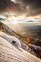 "Dimitri Lettig ""Deem-O"" finds excellent powder in the foothills above Salt Lake City."