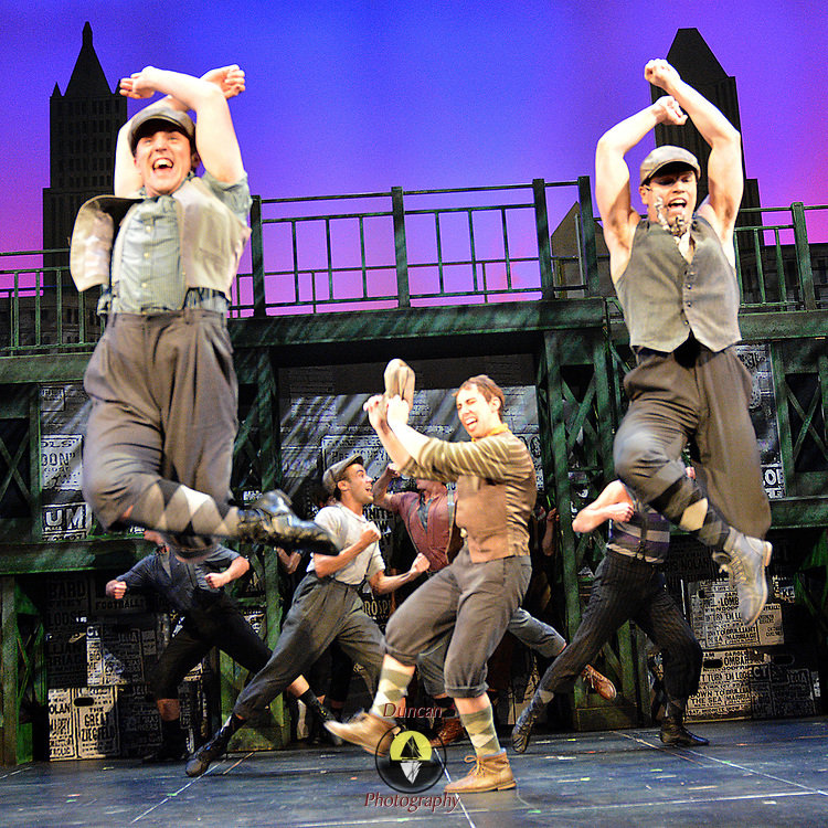BRUNSWICK, Maine- 8/8/17 -- Newsies full costume run. Photo by Roger S. Duncan for Maine State Music Theatre.