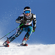 Emily Bamford, Australia, in action during the Women's Giant Slalom competition at Coronet Peak, New Zealand during the Winter Games. Queenstown, New Zealand, 23rd August 2011. Photo Tim Clayton