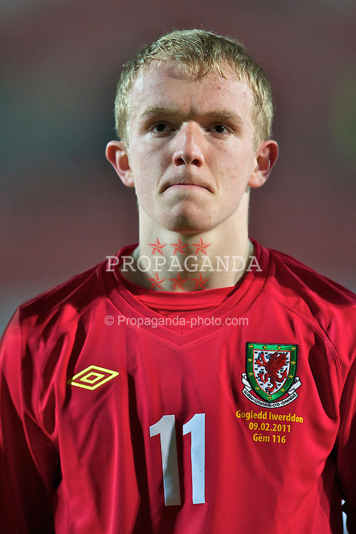 WREXHAM, WALES - Wednesday, February 9, 2011: Wales' Jonathan Williams before the Under-21 International Friendly match against Northern Ireland at the Racecourse Ground. (Photo by David Rawcliffe/Propaganda)
