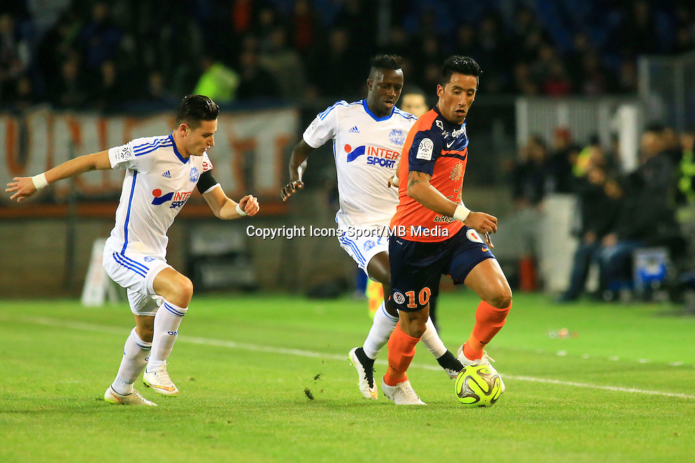 Lucas BARRIOS - 09.01.2015 - Montpellier / Marseille - 20eme journee de Ligue 1<br />Photo : Nicolas Guyonnet / Icon Sport