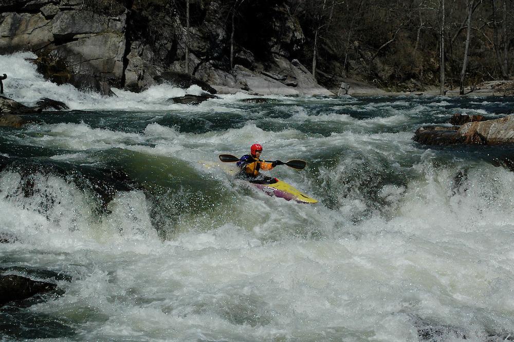 Whitewater kayaking on the Housatonic River, Bulls Bridge Section.