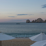 Cabo San Lucas Bay at sunrise. BCS.