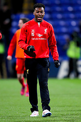 Liverpool's Daniel Sturridge warms up before the game - Photo mandatory by-line: Matt McNulty/JMP - Mobile: 07966 386802 - 04/02/2015 - SPORT - Football - Bolton - Macron Stadium - Bolton Wanderers v Liverpool - FA Cup - Fourth Round