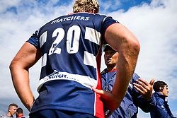 Bristol Rugby Head Coach Pat Lam speaks with Jordan Crane of Bristol Rugby after the game  - Rogan/JMP - 05/08/2017 - RUGBY UNION - Cleve RFC - Bristol, England - Bristol Rugby v Harlequins - Pre-Season Friendly.