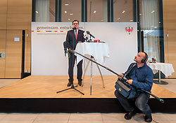 11.05.2017, Congress Centrum, Alpbach, AUT, Landeshauptleutekonferenz, Empfang, im Bild LH Günther Platter (TI) // Governor of the province Tyrol Günther Platter (OeVP) during the Governors conference of the Austrian Provinces at Congress Centrum in Alpbach, Austria on 2017/05/11. EXPA Pictures © 2017, PhotoCredit: EXPA/ Johann Groder