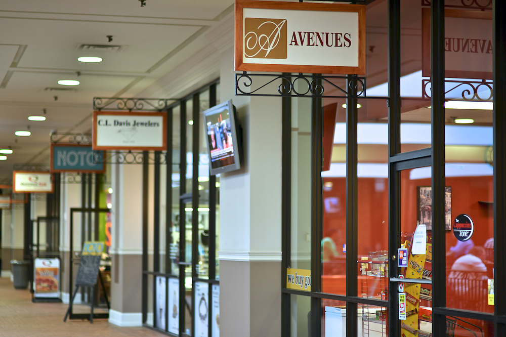 Exterior of Avenues at the Shoppes at Akron Centre.