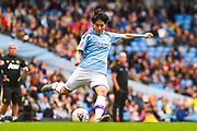 Manchester City Women forward Lee Geum-min (17) passes the ball during the FA Women's Super League match between Manchester City Women and Manchester United Women at the Sport City Academy Stadium, Manchester, United Kingdom on 7 September 2019.