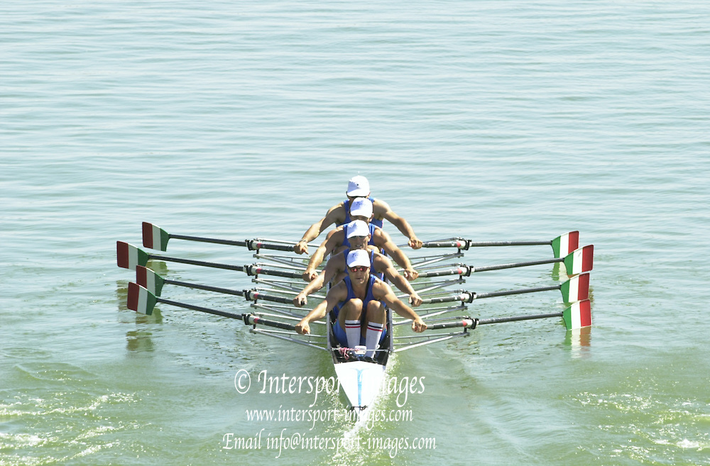 Peter Spurrier Sports  Photo.email pictures@rowingpics.com.Tel 44 (0) 7973 819 551.Tel/Fax 44 (0) 1784 440 772..ITA M4X 20010515 FISA World Cup, Seville, SPAIN