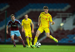 UPTON PARK, ENGLAND - Friday, September 12, 2014: Liverpool's Joe Maguire in action against West Ham United during the Under 21 FA Premier League match at Upton Park. (Pic by David Rawcliffe/Propaganda)