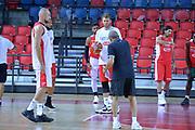 Marco Cusin,Niccolo Melli,Ettore Messina<br /> Nazionale Italiana Maschile Senior<br /> Eurobasket 2017<br /> Allenamento<br /> FIP 2017<br /> Telaviv, 30/08/2017<br /> Foto Ciamillo - Castoria/ M.Longo