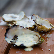 Eagle Nook Wilderness Resort and Spa is located on a remote area of Vancouver Island.   Fresh oysters brought in by the local fishermen.