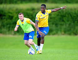 Bristol Rovers' Shaquille Hunter - Photo mandatory by-line: Dougie Allward/JMP - Tel: Mobile: 07966 386802 24/06/2013 - SPORT - FOOTBALL - Bristol -  Bristol Rovers - Pre Season Training - Npower League Two