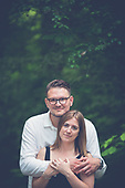Melanie & Patrick's forrest engagement photo shoot