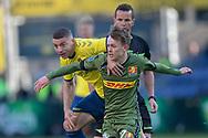 FODBOLD: Josip Radosevic (Brøndby IF) og Mikkel Damsgaard (FC Nordsjælland) under kampen i Superligaen mellem Brøndby IF og FC Nordsjælland den 13. maj 2019 på Brøndby Stadion. Foto: Claus Birch.