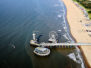Nederland, Zuid-Holland, Den Haag, 14-09-2019; Scheveningen, strand en De Pier <br /> Scheveningen, beach and boulevard.<br /> <br /> luchtfoto (toeslag op standard tarieven);<br /> aerial photo (additional fee required);<br /> copyright foto/photo Siebe Swart