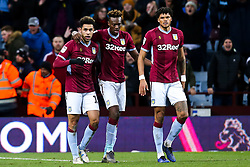 Andre Green of Aston Villa celebrates with teammates after scoring a goal to make it 3-3 - Mandatory by-line: Robbie Stephenson/JMP - 08/02/2019 - FOOTBALL - Villa Park - Birmingham, England - Aston Villa v Sheffield United - Sky Bet Championship