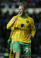 Derby - Tuesday October 28th, 2008: Matthew Pattison of Norwich City has his goal attempt blocked against Derby County during the Coca Cola Championship match at Pride Park, Derby. (Pic by Michael Sedgwick/Focus Images)