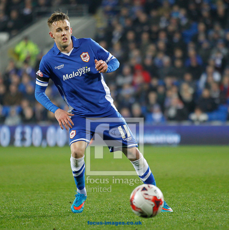 Craig Noone of Cardiff City during the Sky Bet Championship match at the Cardiff City Stadium, Cardiff<br /> Picture by Mike Griffiths/Focus Images Ltd +44 7766 223933<br /> 17/03/2015