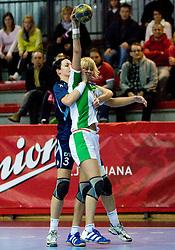 Anja Argenti of Slovenia at Women European Championships Qualifying handball match between National Teams of Slovenia and Belarus, on October 17, 2009, in Kodeljevo, Ljubljana.  (Photo by Vid Ponikvar / Sportida)