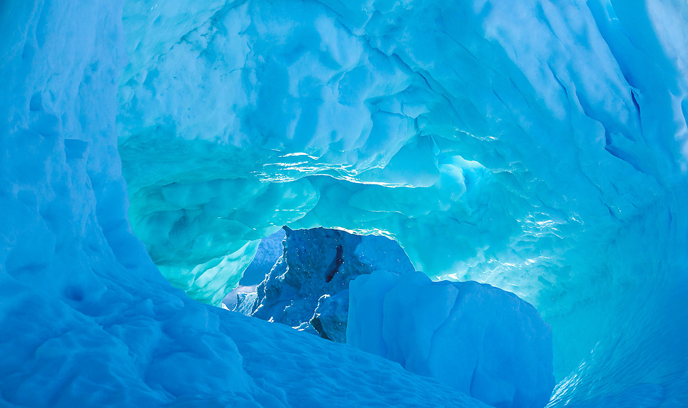 Inside and Iceberg at Harefjord, Greenland