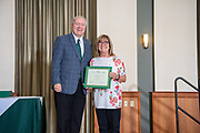 President Nellis with Susan Abbott at the Classified Staff Awards Ceremony. Photo by Ben Siegel