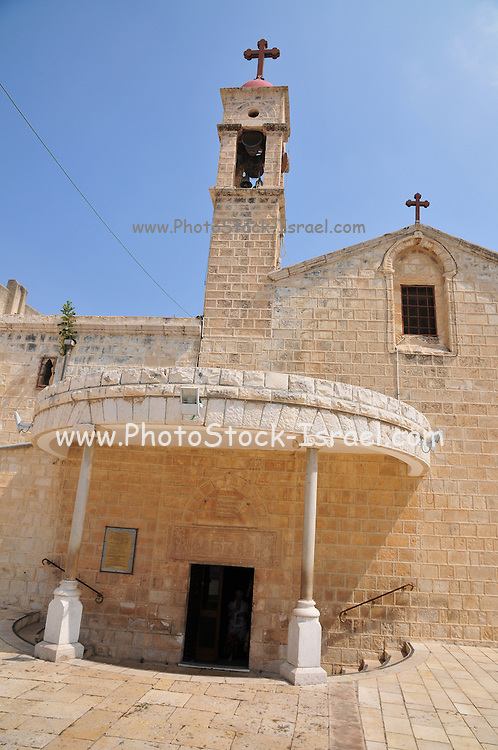 The exterior of the Greek Orthodox Church of the Annunciation, the Church of St. Gabriel, Nazareth, Israel