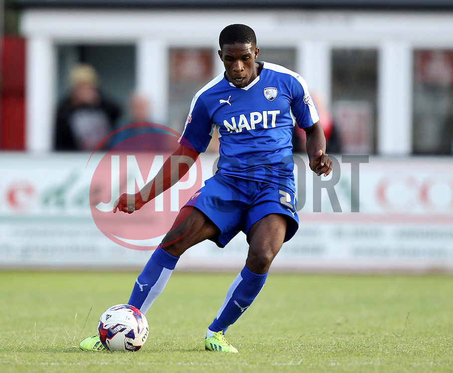 Chesterfield's Tendayi Darikwa - Mandatory by-line: Robbie Stephenson/JMP - 07966386802 - 28/07/2015 - SPORT - FOOTBALL - Ilkeston,England - New Manor Ground - Ilkeston FC v Chesterfield FC - Pre-Season Friendly