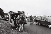 Conversations on the roadside, Upper chapel Rave, Brecon, Wales August 2016