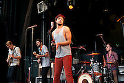 Young the Giant opening for Incubus at the Lifestyles Community Pavilion in Columbus, OH on August 30, 2011