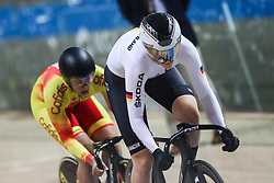 February 28, 2019 - Pruszkow, Poland - Lea Sophie Friedrich (GER) Tania Calvo Barbero (ESP) on day two of the UCI Track Cycling World Championships held in the BGZ BNP Paribas Velodrome Arena on February 28, 2019 in Pruszkow, Poland. (Credit Image: © Foto Olimpik/NurPhoto via ZUMA Press)