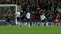Football - 2018 / 2019 Premier League - Tottenham Hotspur vs. Manchester City<br /> <br /> Riyad Mahrez (Manchester City) hits the post with his fierce drive at Wembley Stadium.<br /> <br /> COLORSPORT/DANIEL BEARHAM