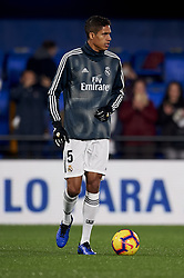 January 3, 2019 - Villarreal, Castellon, Spain - Raphael Varane of Real Madrid during the warm-up before the week 17 of La Liga match between Villarreal CF and Real Madrid at Ceramica Stadium in Villarreal, Spain on January 3 2019. (Credit Image: © Jose Breton/NurPhoto via ZUMA Press)