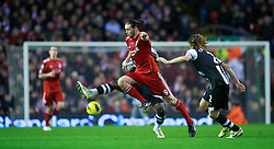 30.12.2011, Anfield Stadion, Liverpool, ENG, PL, FC Liverpool vs Newcastle United, 19. Spieltag, im Bild Liverpool's Andy Carroll in action against Newcastle United during the football match of English premier league, 19th round, between FC Liverpool and Newcastle United at Anfield Stadium, Liverpool, United Kingdom on 2011/12/30. EXPA Pictures © 2011, PhotoCredit: EXPA/ Propagandaphoto/ David Rawcliff..***** ATTENTION - OUT OF ENG, GBR, UK *****
