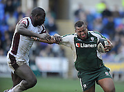 Reading, GREAT BRITAIN, Exiles, Steffon ARMITAGE, attempts to hand off Tigers, Ayoola ERINLE, during the Guinness Premiership match, London Irish vs Leicester Tigers, played at the Madejski Stadium, on Sun. 17th Feb 2008[Mandatory Credit, Peter Spurrier/Intersport-images].....Watford, GREAT BRITAIN, during the Pool 4 Rd 5  Heineken Cup game Saracens vs Biarittz at Vicarage Road, Hert's  26/04/2007  [Photo, Peter Spurrier/Intersport-images].....