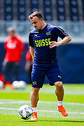 Switzerland midfielder Xherdan Shaqiri during Switzerland training session ahead of the UEFA Nations League 3rd place play-off match between Switzerland and England at Estadio D. Afonso Henriques, Guimaraes, Portugal on 9 June 2019.