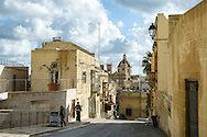 St George's Basilica, Gozo (from modern driveway to main gate of Citadella)