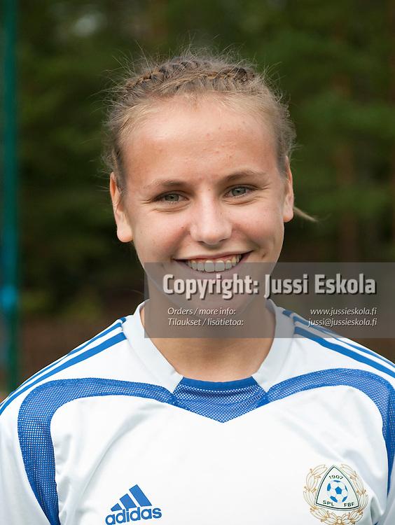 Eva-Susanna Dahlmars. Alle 17-vuotiaiden tyttöjen maajoukkue. TU17 (1.1.1994). Eerikkilä. 31.8.2010. Photo: Jussi Eskola